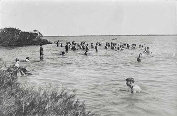 Historical - Swimming at Lake Violet