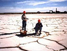 Picture: Working on a salt lake